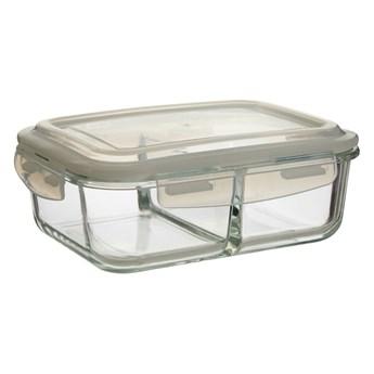Pojemnik szklany z wieczkiem i 2 przegródkami Premier Housewares Fresko, 17x23 cm