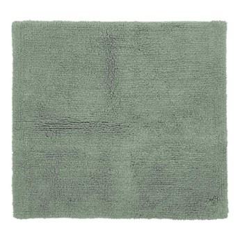 Zielony bawełniany dywanik łazienkowy Tiseco Home Studio Luca, 60x60 cm