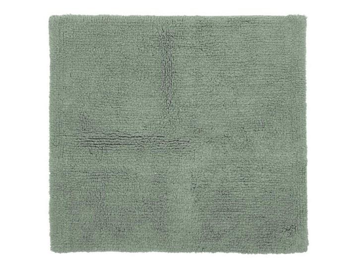 Zielony bawełniany dywanik łazienkowy Tiseco Home Studio Luca,60x60cm Kwadratowy Bawełna Kategoria Dywaniki łazienkowe