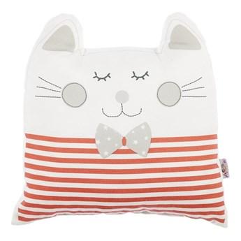 Czerwona poduszka dziecięca z domieszką bawełny Mike & Co. NEW YORK Pillow Toy Big Cat, 29x29 cm