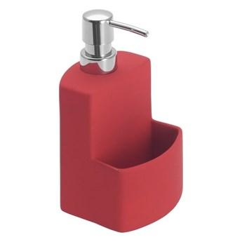 Czerwony dozownik do mydła w płynie Wenko Festival