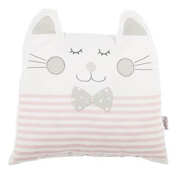 Różowa poduszka dziecięca z domieszką bawełny Mike & Co. NEW YORK Pillow Toy Big Cat, 29x29 cm
