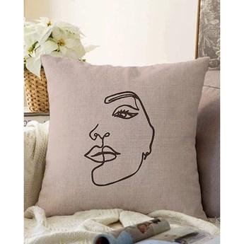 Beżowa poszewka na poduszkę z domieszką bawełny Minimalist Cushion Covers Chenille, 55x55 cm
