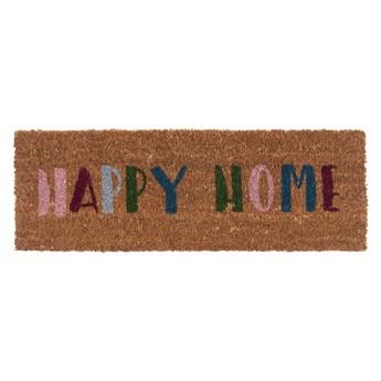 Wycieraczka z włókna kokosowego PT LIVING Happy Home, 26x75 cm