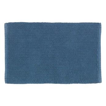 Niebieski dywanik łazienkowy Wenko Mona