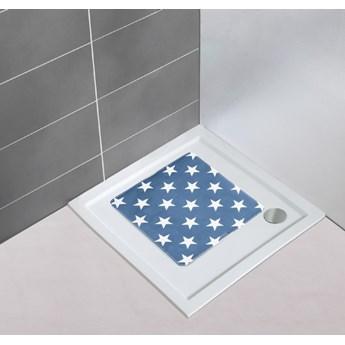 Ciemnoniebieski antypoślizgowy dywanik łazienkowy Wenko Stella Dark Blue, 54x54 cm