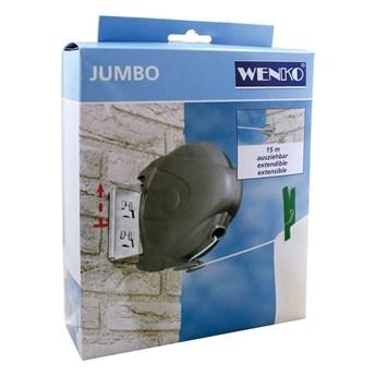 Zwijany sznurek na pranie Wenko Jumbo, dł. 15 m