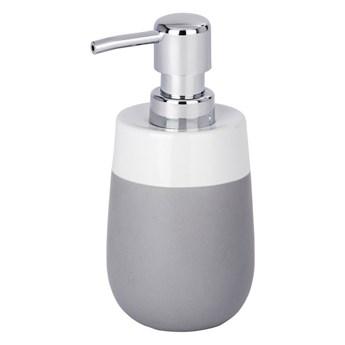 Szaro-biały ceramiczny dozownik do mydła wenko Malta