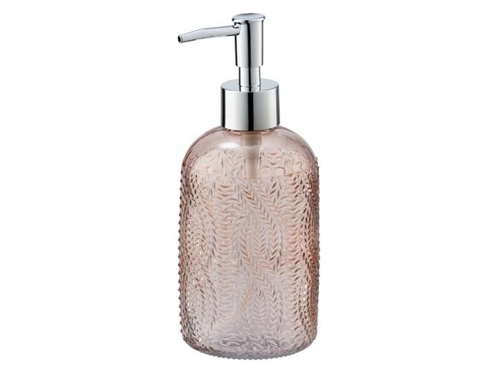 Różowy szklany dozownik do mydła Wenko Vetro