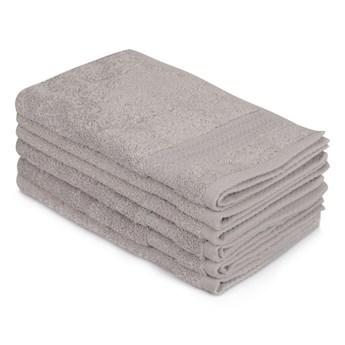 Zestaw 6 szarych ręczników bawełnianych Madame Coco Lento Gris, 30x50 cm