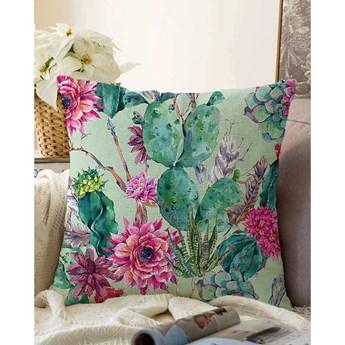 Zielona poszewka na poduszkę z domieszką bawełny Minimalist Cushion Covers Cactus, 55x55 cm
