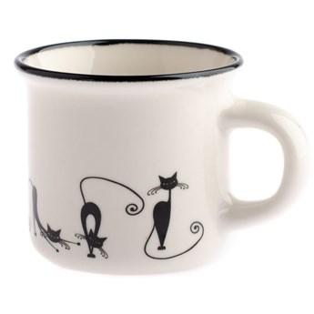 Kubek porcelanowy Dakls Cats Emily, 75 ml