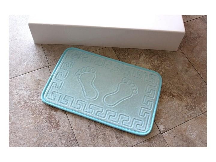 Jasnoniebieski dywanik łazienkowy Ayakizi, 60x40 cm