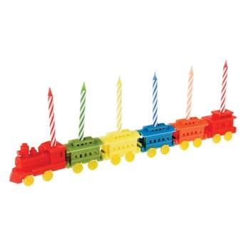Zestaw 6 podstawek na świeczki urodzinowe Rex LondonTrain