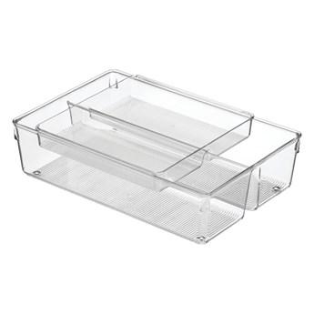 Dwupoziomowy organizer do szuflad kuchennych iDesign Linus, 31x20 cm