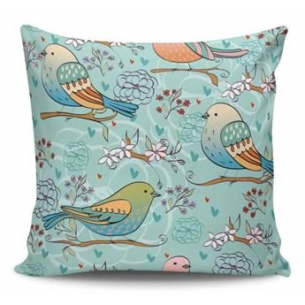 Poduszka z wypełnieniem Elo Birds, 45x45 cm