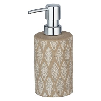 Beżowy ceramiczny dozownik do mydła Wenko Tupian