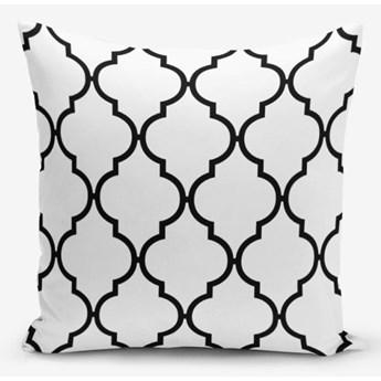 Czarno-biała poszewka na poduszkę z domieszką bawełny Minimalist Cushion Covers Black White Ogea, 45x45 cm