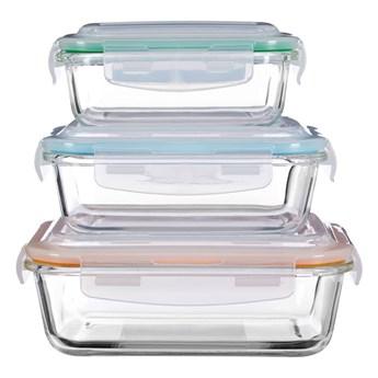 Zestaw 3 szklanych pojemników Premier Housewares Freska