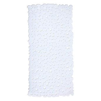 Biały antypoślizgowa mata prysznicowa Wenko Drop, 71x36 cm