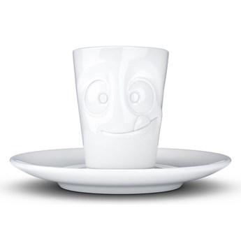 Biała łakoma porcelanowa filiżanka do espresso ze spodkiem 58products, 80 ml
