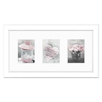 Biała ramka na zdjęcia Styler Malmo, 46x23 cm