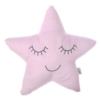Jasnoróżowa poduszka dziecięca z domieszką bawełny Mike & Co. NEW YORK Pillow Toy Star, 35x35 cm