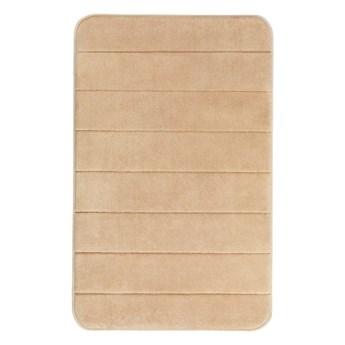 Beżowy dywanik łazienkowy z pianką z pamięcią kształtu Wenko, 80x50 cm