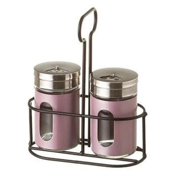 Zestaw 2 pojemników na przyprawy na stojaku Unimasa Pinky