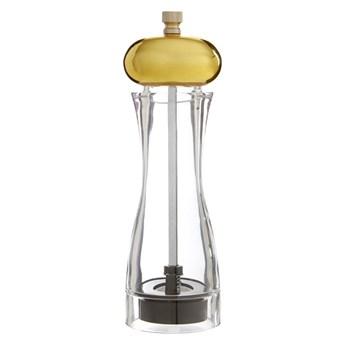Mały młynek do soli/pieprzu z detalem w złotym kolorze Premier Housewares Mill