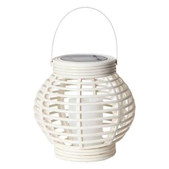 Biały solarny lampion LED odpowiedni na zewnątrz Star Trading Rustic