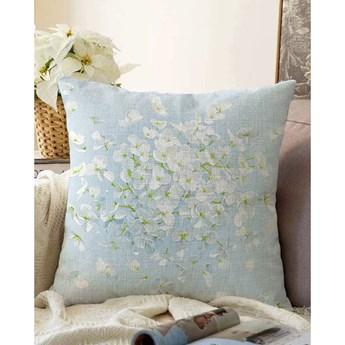 Niebieska poszewka na poduszkę z domieszką bawełny Minimalist Cushion Covers Blossom, 55x55 cm
