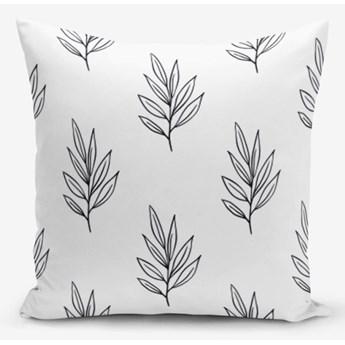 Poszewka na poduszkę z domieszką bawełny Minimalist Cushion Covers White Leaf, 45x45 cm