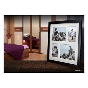 Czarna ramka na 4 zdjęcia Styler Narvik, 39x39 cm
