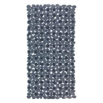 Antracytowa antypoślizgowa mata prysznicowa Wenko Drop, 71x36 cm
