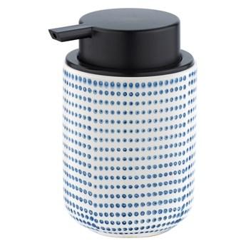 Ceramiczny dozownik do mydła z niebiesko-białym dekorem Wenko Nole, 300 ml