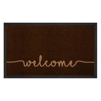 Brązowa wycieraczka Bougari Welcome, 45x75 cm