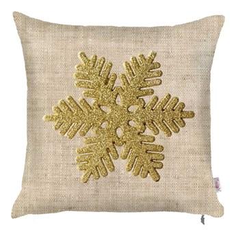 Świąteczna poszewka na poduszkę Mike & Co. NEW YORK Honey Snowflake, 43x43 cm