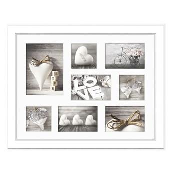Biała ramka na 8 zdjęć Styler Galeria Malmo, 51x41 cm