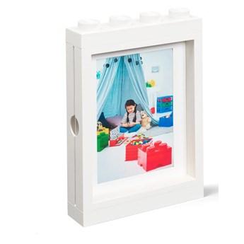 Biała ramka na zdjęcie LEGO®, 19,3x4,7 cm