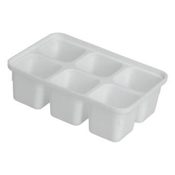 Zestaw 4 białych foremek do lodu Metaltex Ice Cube