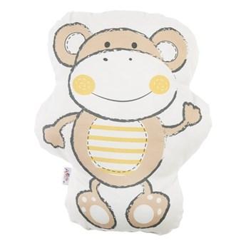 Brązowa poduszka dziecięca z domieszką bawełny Mike & Co. NEW YORK Pillow Toy Beatto, 31x36 cm