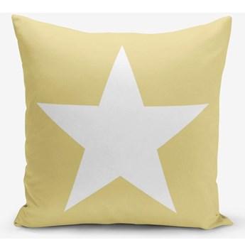 Żółta poszewka na poduszkę Minimalist Cushion Covers Stars, 45x45 cm
