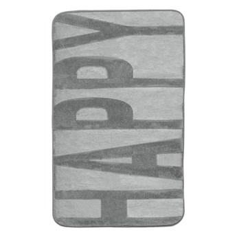 Szary dywanik łazienkowy z pianką z pamięcią kształtu Wenko, 80x50 cm