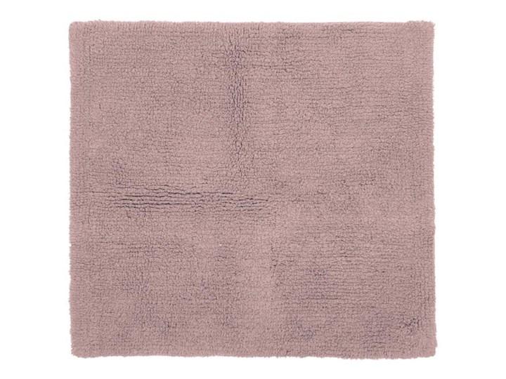 Różowy bawełniany dywanik łazienkowy Tiseco Home Studio Luca,60x60 cm Kwadratowy Bawełna Kategoria Dywaniki łazienkowe