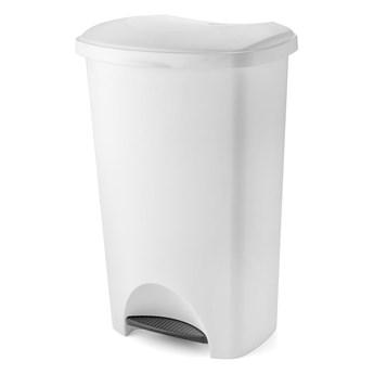 Biały koszna śmieci na pedał z wiekiem Addis, 41x33x62,5 cm