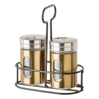 Zestaw 2 pojemników na przyprawy na stojaku Unimasa Goldie