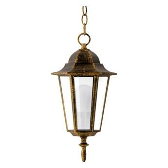 Lampa ogrodowa wisząca LIGURIA IP43 stare złoto E27 POLUX