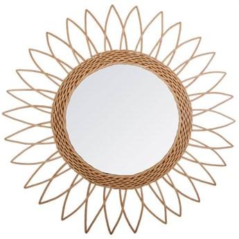 SHARP SUN wiklinowe lustro ścienne w stylu boho, Ø 50 cm