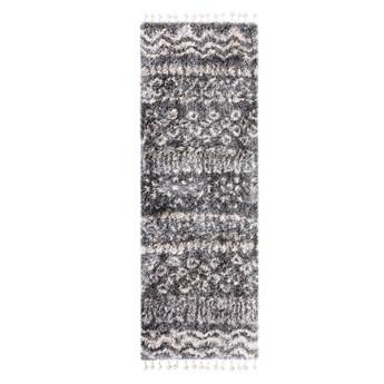 Dywan z Frędzlami Shaggy w stylu Berber - BOHO Aztec 65518 70 x 200 cm